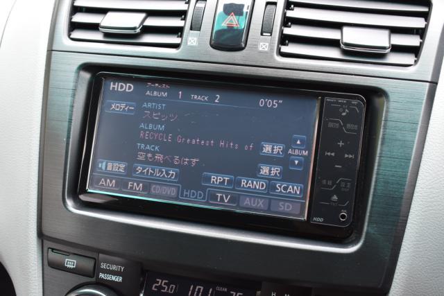 純正HDDナビは音楽録音 AUX端子 DVD再生 フルセグテレビが視聴可能です!