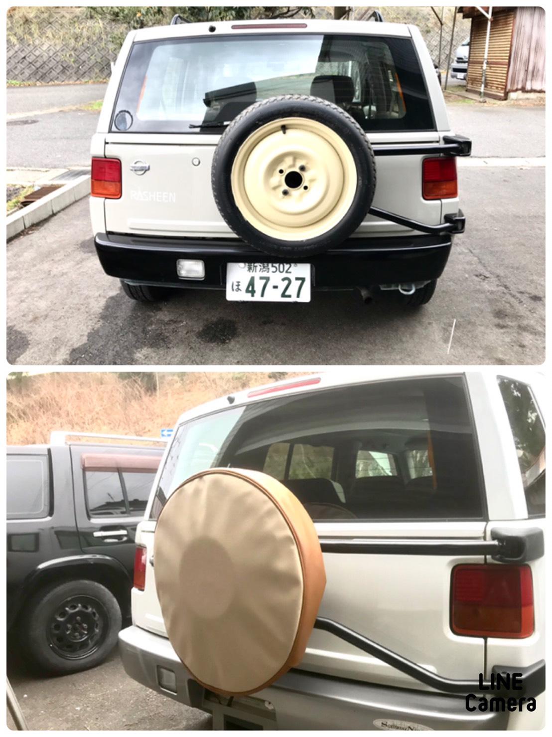 ラシーンの特徴でもある背面タイヤも塗装したりオリジナルタイヤカバーもお作りできます!<br /> 全体のアクセントにもなるので人気のオプションです☆