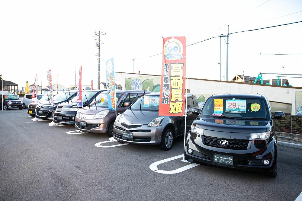 関東、東海エリアから仕入れた良質な車輛が常時30台程展示しております!<br /> どうぞ気軽に立ち寄って下さい(^_-)-☆